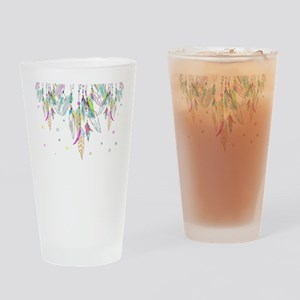 Dreamcatcher Feathers Drinking Glass