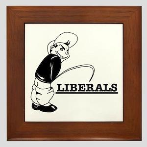 Piss on Liberals Framed Tile