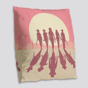 Cowgirls Burlap Throw Pillow