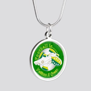 Yellow and Green Football Soccer Necklaces