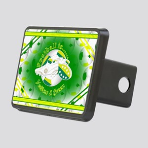 Yellow and Green Football Soccer Hitch Cover