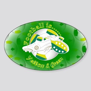 Yellow and Green Football Soccer Sticker