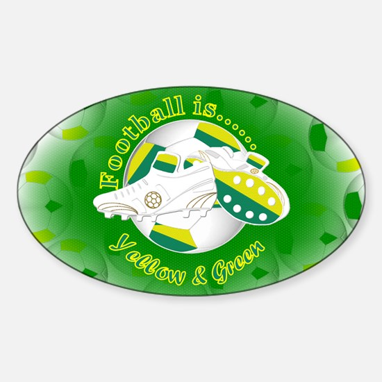 Yellow and Green Football Soccer Decal