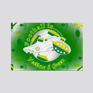 Yellow and Green Football Soccer Magnets