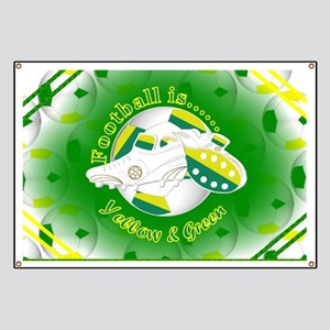 Yellow and Green Football Soccer Banner