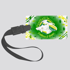 Yellow and Green Football Soccer Luggage Tag
