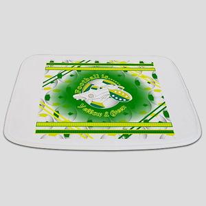 Yellow and Green Football Soccer Bathmat