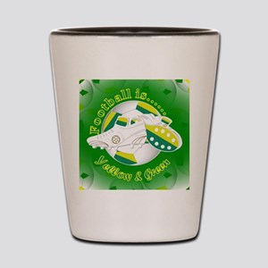 Yellow and Green Football Soccer Shot Glass