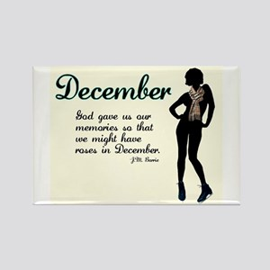 December Rectangle Magnet