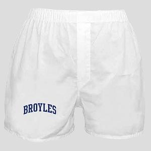 BROYLES design (blue) Boxer Shorts