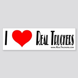 Real Trucker Shirts and Gifts Bumper Sticker