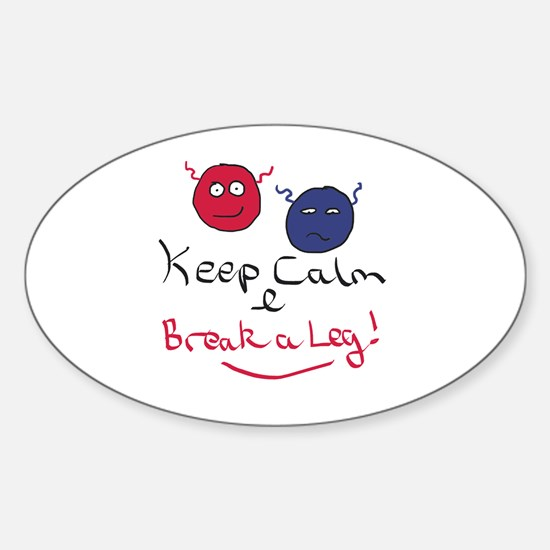 Cute Acting Sticker (Oval)