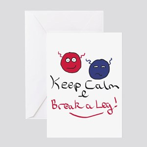Keep Calm Acting Greeting Cards