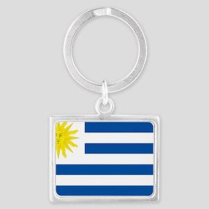 Uruguay flag Landscape Keychain