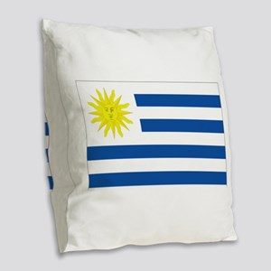 Uruguay flag Burlap Throw Pillow