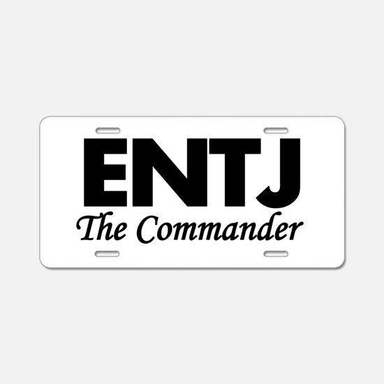 ENTJ | The Commander Aluminum License Plate