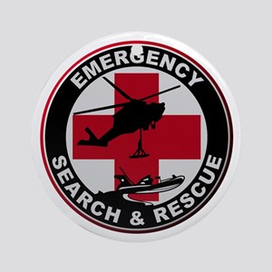 Emergency Rescue Round Ornament