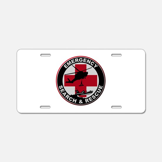 Emergency Rescue Aluminum License Plate