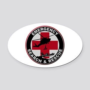 Emergency Rescue Oval Car Magnet