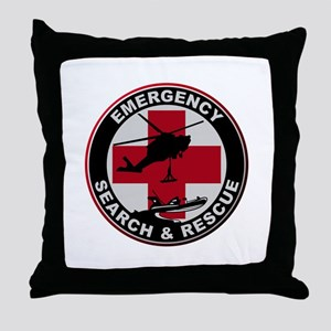 Emergency Rescue Throw Pillow