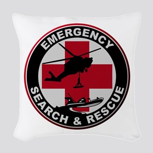 Emergency Rescue Woven Throw Pillow