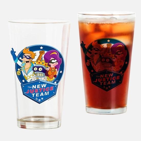 Futurama New Justice Team Drinking Glass
