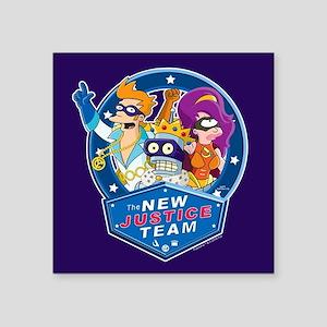 """Futurama New Justice Team Square Sticker 3"""" x 3"""""""