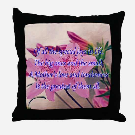 Mothers Day - Special Joy Throw Pillow