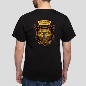 Born To Roam Winged Wheel Orange Dark T-Shirt