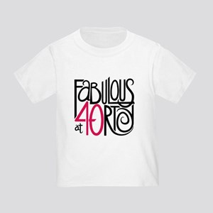 40th Birthday Party Toddler T Shirts