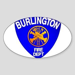 Burlington Fire Department Sticker (Oval)