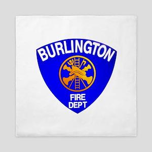 Burlington Fire Department Queen Duvet
