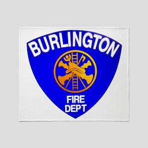 Burlington Fire Department Throw Blanket