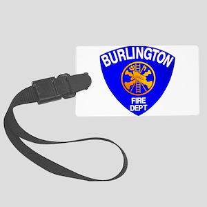 Burlington Fire Department Large Luggage Tag