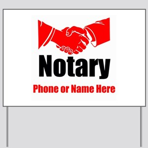 Notary Yard Sign