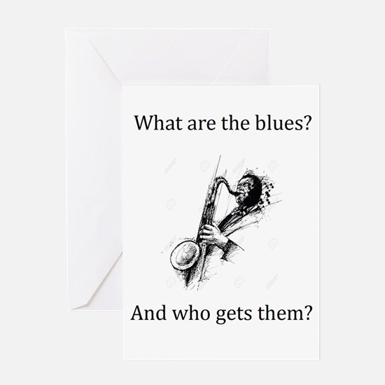 What are the blues and who gets them? Greeting Car