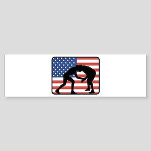 American Wrestling Bumper Sticker