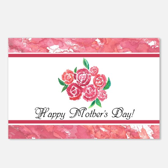 Mothers Day Rose Bouquet Postcards (Package of 8)