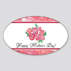 Mothers Day Rose Bouquet to Customi Sticker (Oval)