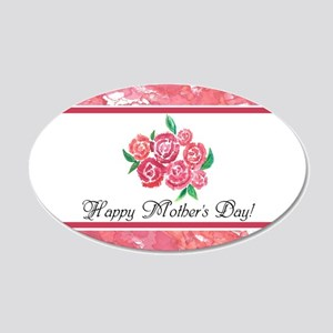 Mothers Day Rose Bouquet to 20x12 Oval Wall Decal