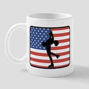 American Womens Ice Skating Mug
