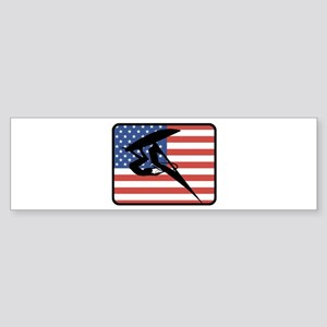 American Windsurfing Bumper Sticker