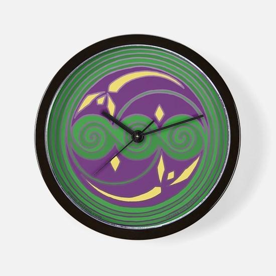 Triple Celtic Spiral Wall Clock