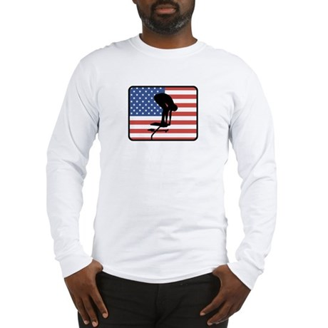 American Swimming Long Sleeve T-Shirt