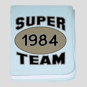 Super Team 1984 baby blanket
