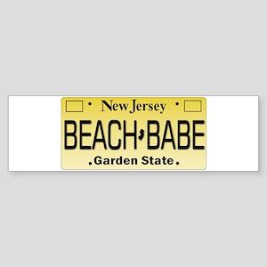 Beach Babe NJ Tag Giftware Bumper Sticker
