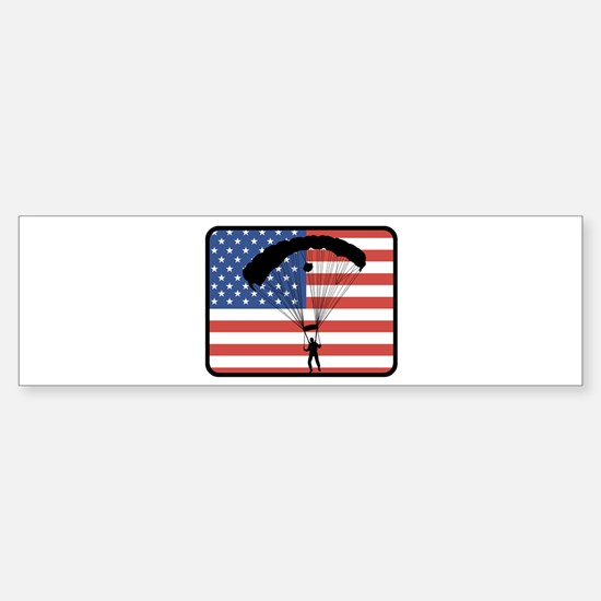 American Skydiving Bumper Bumper Bumper Sticker