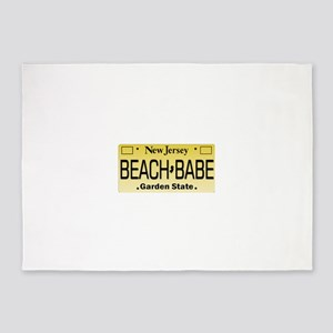 Beach Babe NJ Tag Giftware 5'x7'Area Rug