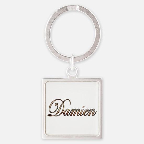 Cute Damien Square Keychain