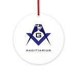 Masonic Sagittarius Sign Ornament (Round)